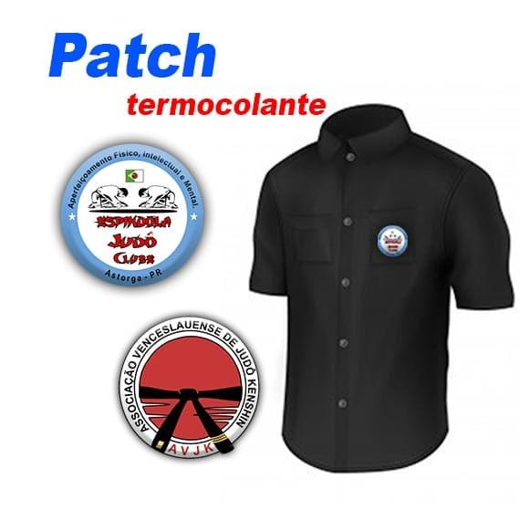 Patch termo colante personalizados para tecidos e kimonos Kit 10 unidades